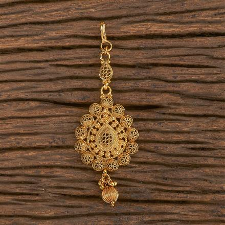 206529 Antique Plain Tikka With Gold Plating
