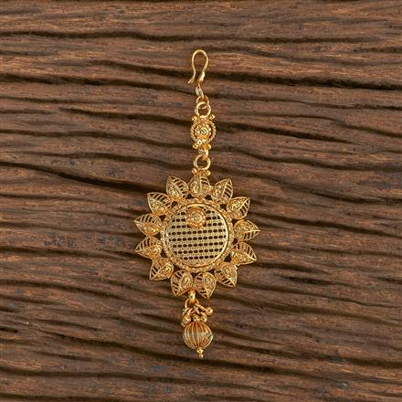 206531 Antique Plain Tikka With Gold Plating