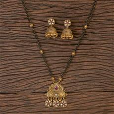 206544 Antique Classic Mangalsutra With Gold Plating
