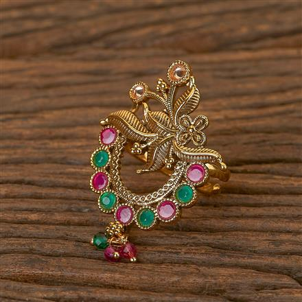 206554 Antique Classic Ring With Gold Plating