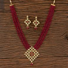 206575 Antique Mala Pendant Set With Gold Plating