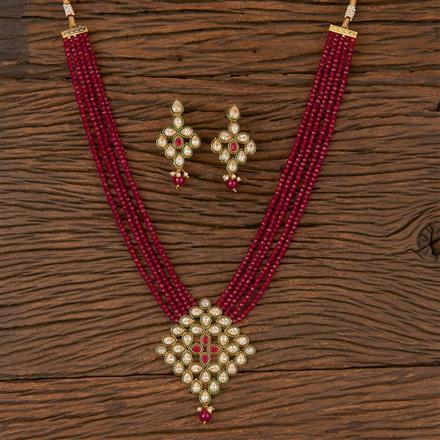 206575 Antique Mala Pendant Set With Gold Plating