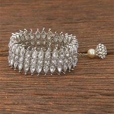 206579 Antique Adjustable Bracelet With Rhodium Plating