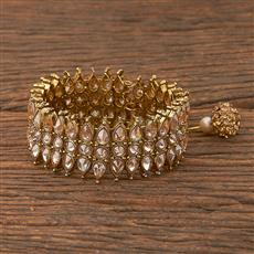 206580 Antique Adjustable Bracelet With Mehndi Plating