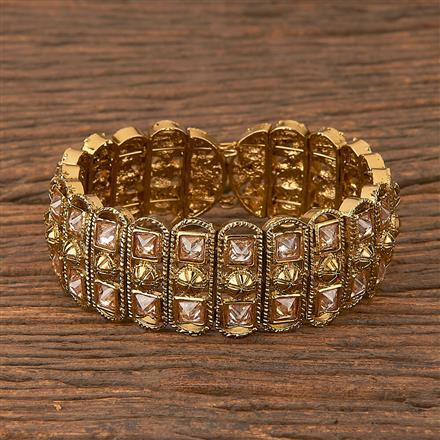 206581 Antique Adjustable Bracelet With Mehndi Plating