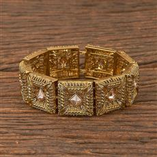 206583 Antique Adjustable Bracelet With Mehndi Plating