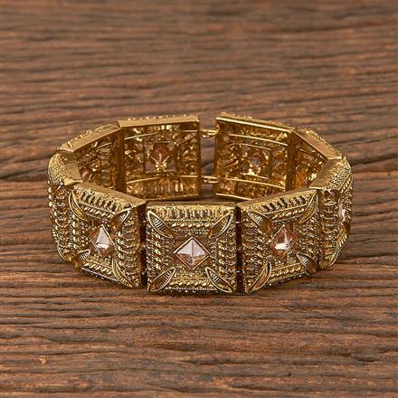 206583 Antique Adjustable Bracelet With Mehndi Plating