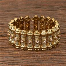 206585 Antique Adjustable Bracelet With Mehndi Plating