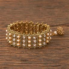 206586 Antique Adjustable Bracelet With Mehndi Plating