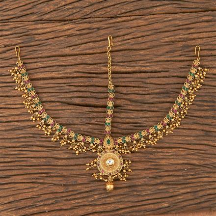 206601 Antique South Indian Damini With Matte Gold Plating