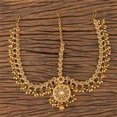 206603 Antique South Indian Damini With Matte Gold Plating
