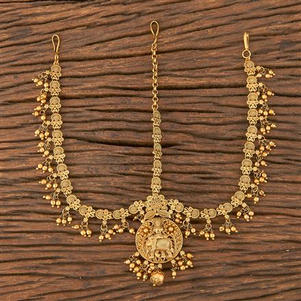 206605 Antique South Indian Damini With Matte Gold Plating