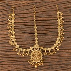 206606 Antique South Indian Damini With Matte Gold Plating