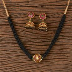 206616 Antique Classic Mangalsutra With Gold Plating