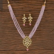206627 Antique Mala Pendant Set With Gold Plating