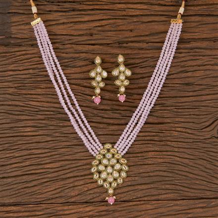 206627 Antique Mala Pendant Set With Gold Plating