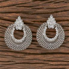 206628 Antique Chand Earring With Rhodium Plating