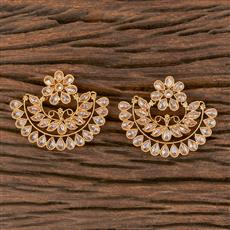 206631 Antique Chand Earring With Gold Plating