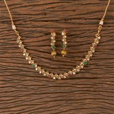 206634 Antique Delicate Necklace With Gold Plating