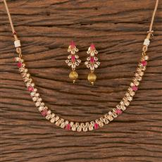 206635 Antique Delicate Necklace With Gold Plating