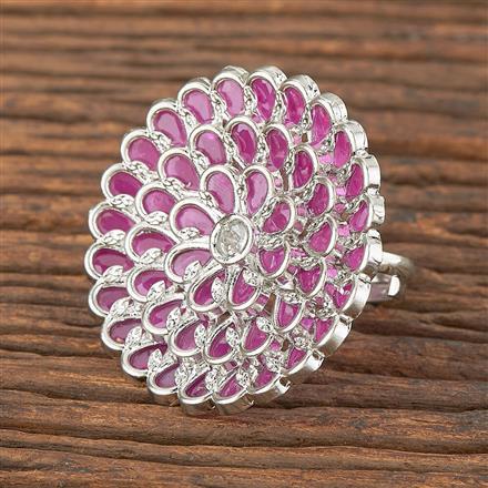 206648 Antique Classic Ring With Rhodium Plating