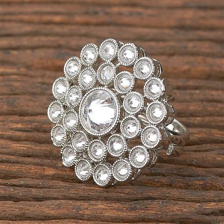 206655 Antique Classic Ring With Rhodium Plating