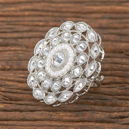 206660 Antique Classic Ring With Rhodium Plating
