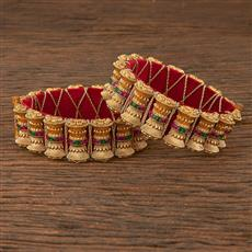 206664 Antique Openable Bangles With Gold Plating