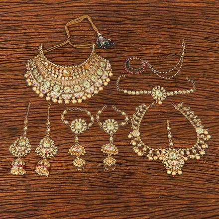 206666 Antique Bridal Sets With Gold Plating