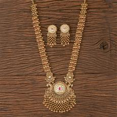 206670 Antique Peacock Necklace With Gold Plating