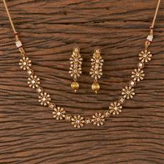 206677 Antique Delicate Necklace With Gold Plating