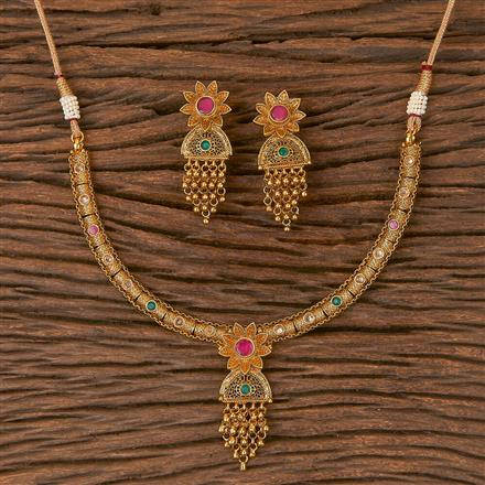 206681 Antique Delicate Necklace With Gold Plating