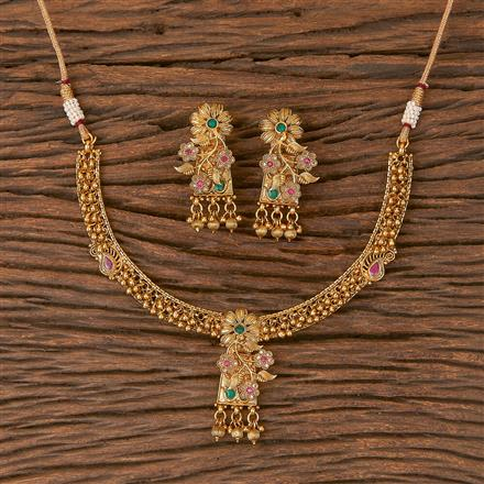 206682 Antique Delicate Necklace With Gold Plating