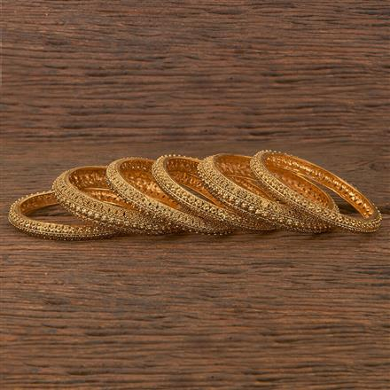 206684 Antique Plain Bangles With Gold Plating