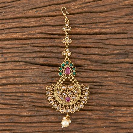 206686 Antique Chand Tikka With Gold Plating