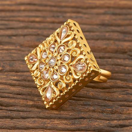 206692 Antique Classic Ring With Matte Gold Plating