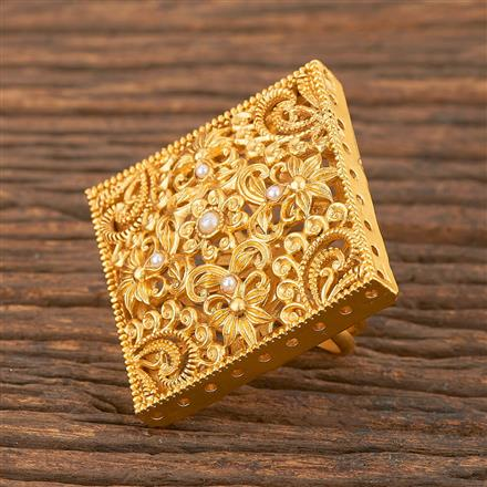 206694 Antique Classic Ring With Matte Gold Plating