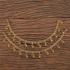 206736 Antique Ghungru Payal With Mehndi Plating