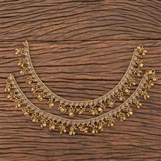 206737 Antique Ghungru Payal With Mehndi Plating