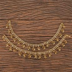 206738 Antique Ghungru Payal With Mehndi Plating