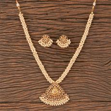 206740 Antique Mala Pendant Set With Gold Plating