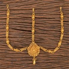 206765 Antique Plain Damini With Gold Plating