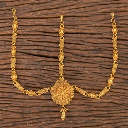 206765 Antique Plain Damini With Gold Plating