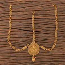 206766 Antique Plain Damini With Gold Plating