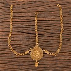 206766 Antique Plain Damini With Gold Plating