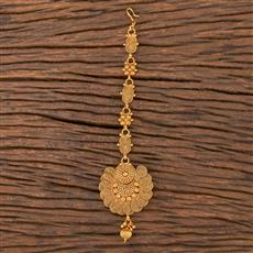 206768 Antique Plain Tikka With Gold Plating