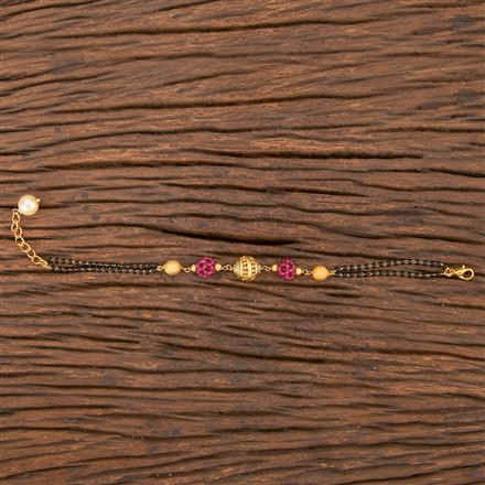 206800 Antique Hand Mangalsutra Bracelet With Gold Plating