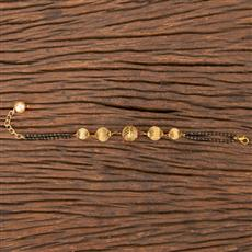 206801 Antique Hand Mangalsutra Bracelet With Gold Plating