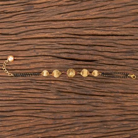 206801 Antique Hand Mangalsutra Bracelet With Gold Plating
