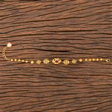 206802 Antique Hand Mangalsutra Bracelet With Gold Plating